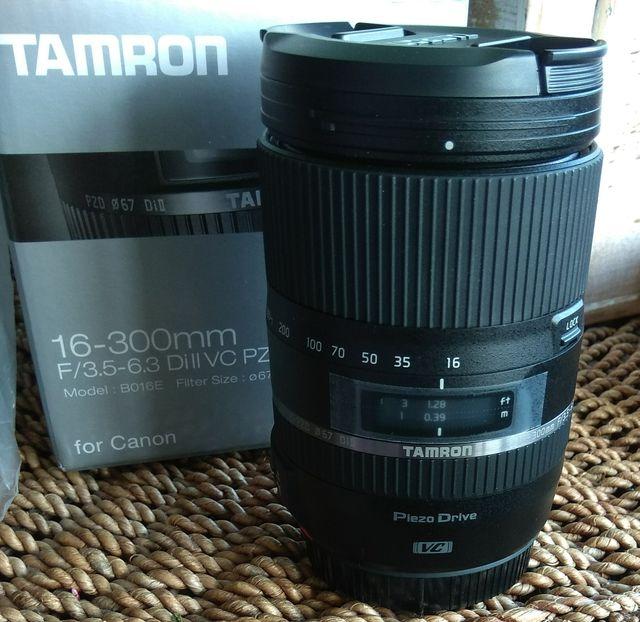 Objetivo fotografía Tamron para canon