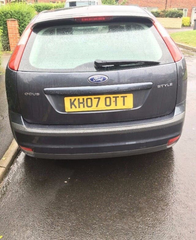 Ford Focus 2007 07 Plate