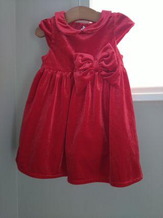 Vestido terciopelo rojo.