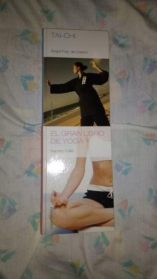 2 libros. Taichi y Yoga
