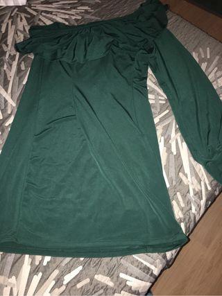 Vestido verde con volantes