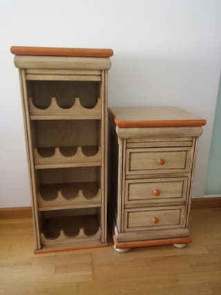 Mueble Botellero 2 piezas Nuevo