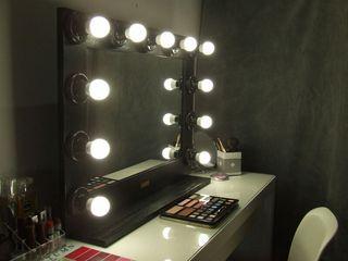 espejo de luces negro