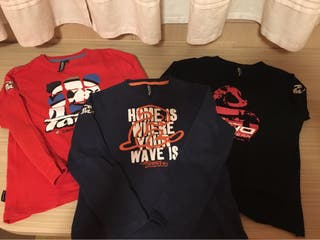 Tres camisetas marca el niño