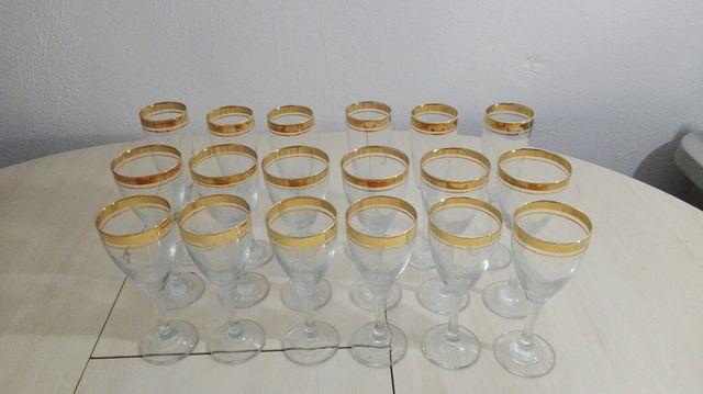 copas de cristal filo oro