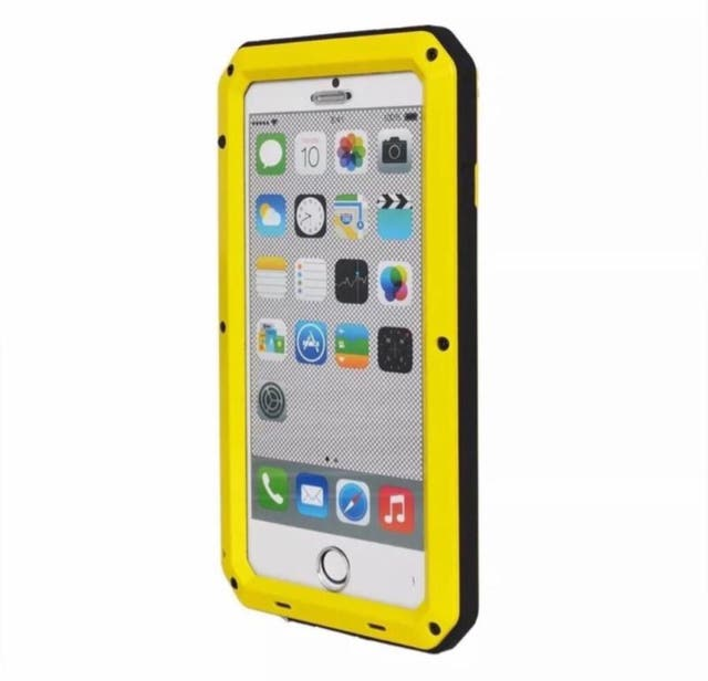a164a6bb172f Funda Hibrida Antigolpes Metal Protector Cristal Amarillo iPhone 6 Plus 6S  Plus iPhone6 Plus ...