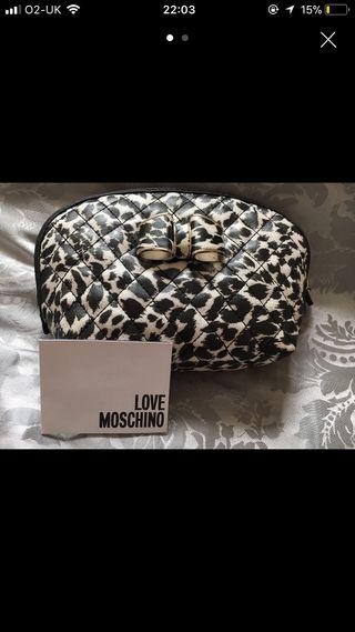 Moschino makeup bag