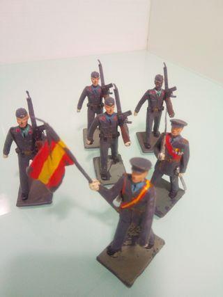 lote figuras desfile soldados aviacion reamsa