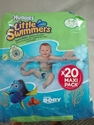 pañales para piscina huggies talla 3-4