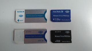 Tarjeta Memoria Stick PRO Duo 2GB/4GB