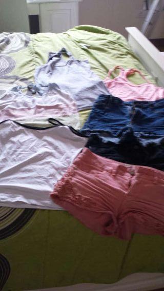 venta pantalones cortos vaqueros y camisetas tirantes casi nuevo