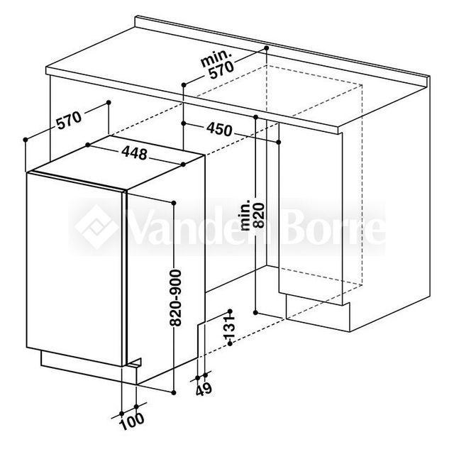 Lavavajillas 45cm integrable