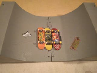 doble pista de tech deck+3 monopatines