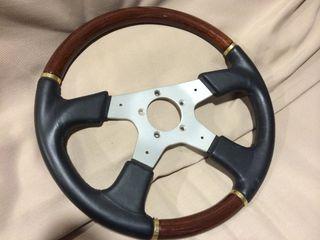 Volante coche madera