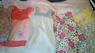 lotes 5 vestidos 3/6 conbinalos como quieras.
