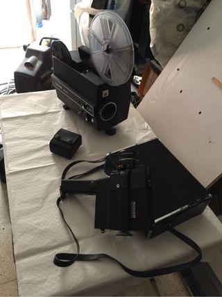 Proyector y camara de 8mm