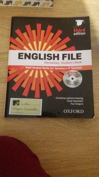 Libro de ingles English File Elementary