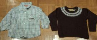 camisa y jersey talla 12 meses