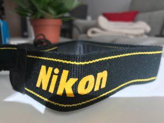 Correa camara fotografía Nikon