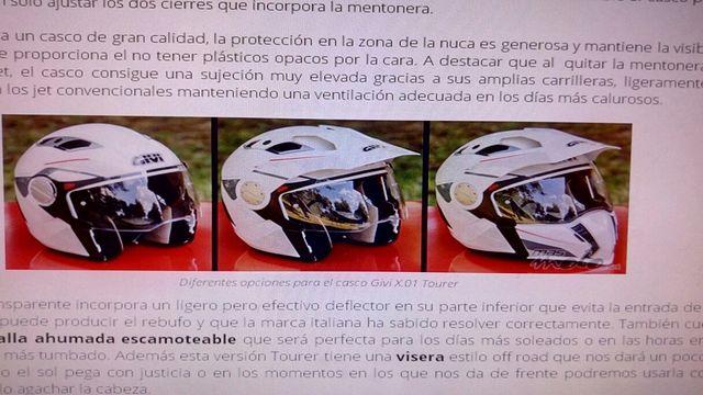 Casco moto, convertible y modular