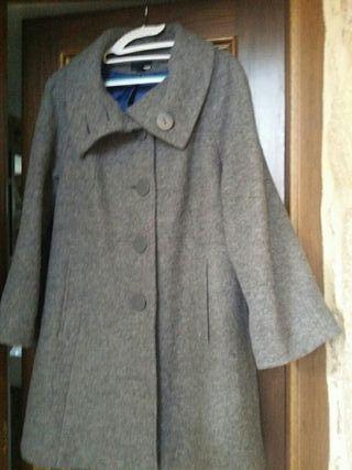 Abrigo mujer H&m gris 40