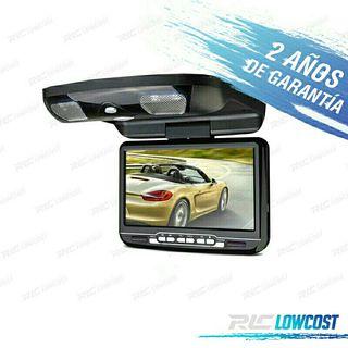 """PANTALLA DE TECHO 9"""" HD USB SD DVD"""