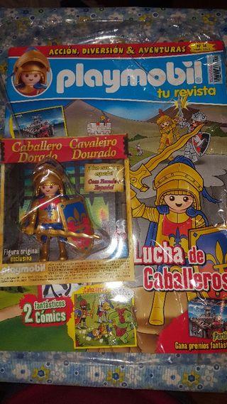 revista playmobil 14 caballero dorado nuevo