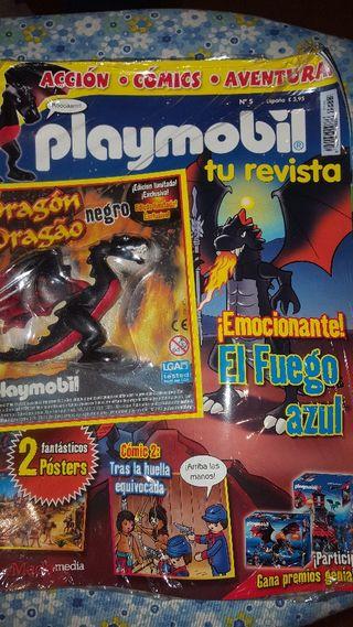 revista playmobil 5 dragón negro descatalogado