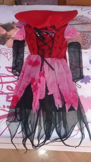 Disfraz de vampiresa.talla d 4 a 6