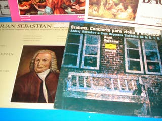 lote de 7 vinilos música clásica BACH BRAHMS etc
