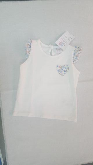 camiseta manga corta bebe