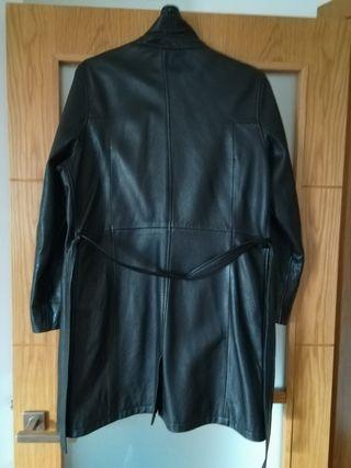 Abrigo negro piel auténtica