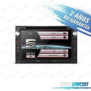 "RADIO NAVEGADOR 7"" SEAT USB GPS HD DVD"