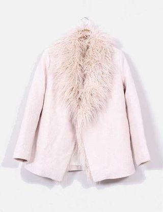 abrigo rosa palo zara