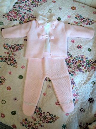Ropa bebé, conjunto recién nacido 1-3 meses.