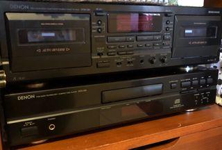 Reproductor cd y Cassette grabador Denon