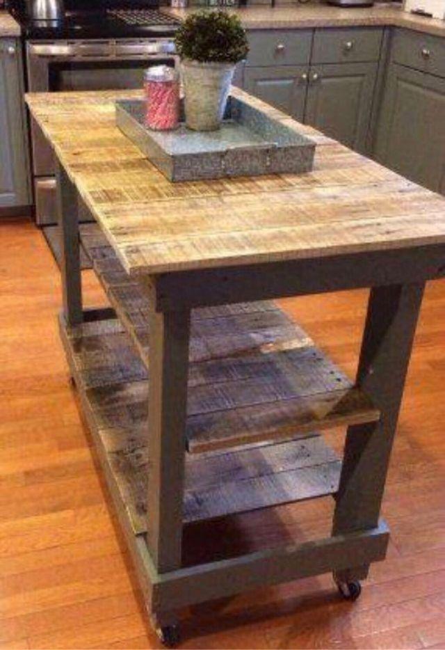 Mueble cocina isla interior exterior madera palet de for Muebles de cocina para exterior