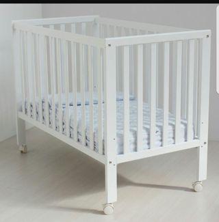 cuna bebe blanca 120x60 mas colchon
