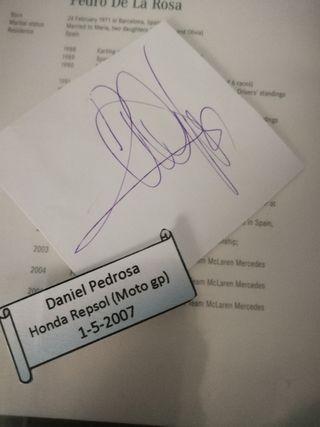autografo dani pedrosa