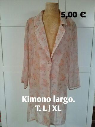 Kimono largo sin estrenar. T. L / XL