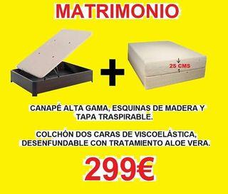 COLCHÓN + CANAPÉ MATRIMONIO