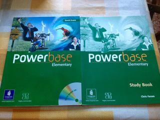 Libro ingles powerbase y libro ejercicios