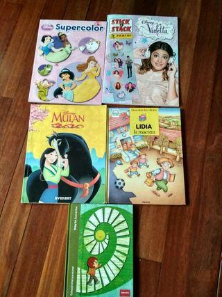 libros para colorear de pegatinas y de lectura