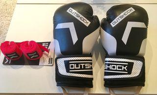Boxeo guantes y vendas