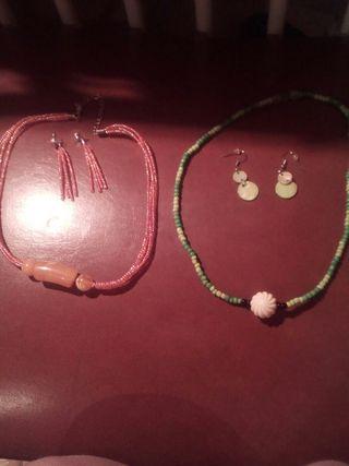 conjunto collar+ pendientes
