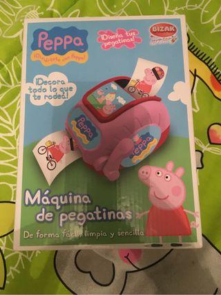 Maquina de pegatinas peppa pig