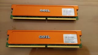 Módulos RAM DDR2 PC2 8400 con disipador para PC