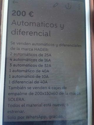 automáticos y diferencial