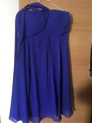 Vestido de fiesta corto azul