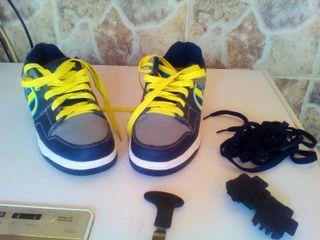 zapatos con ruedas numero 38.